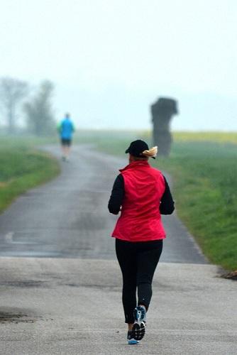 entraînement au jogging dans la nature