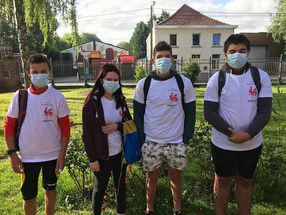 Etudiants juillet 2020 masqués