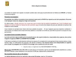 Lettre du gouverneur de la province suite aux nouvelles règles Covid-19